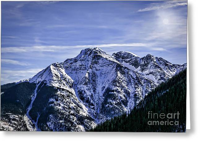 Twilight Peak Colorado Greeting Card