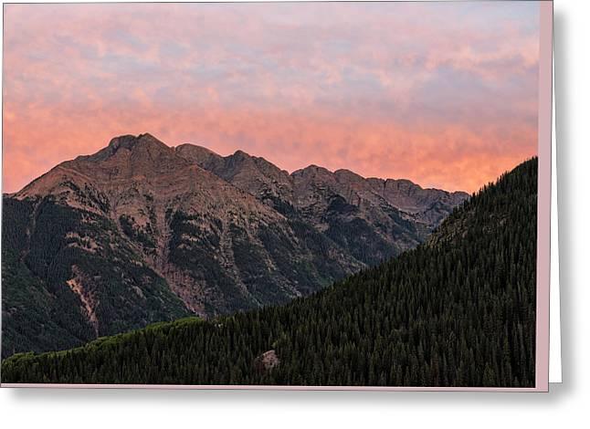 Twilight Peak - San Juan Mountains Greeting Card