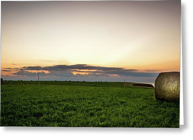 Greeting Card featuring the photograph Twilight Prince Edward Island Fields by Chris Bordeleau