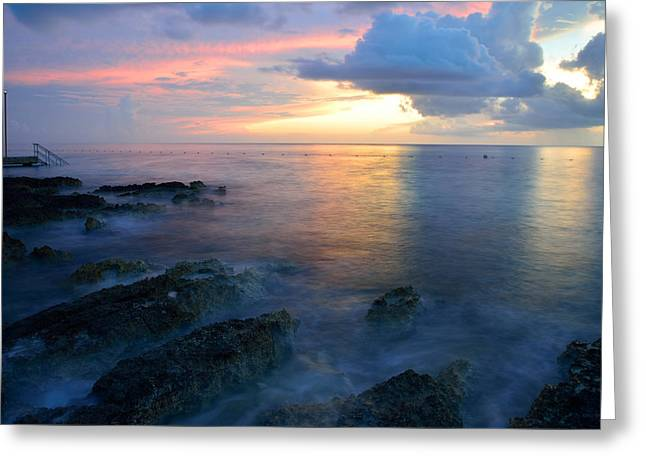 Twilight Reef Greeting Card by Kathy Yates
