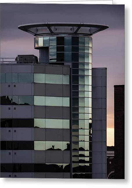 Twilight Reflection - Radisson Plaza Hotel Greeting Card