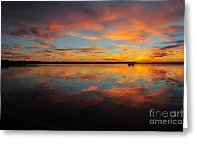 Twilight Reflection Greeting Card