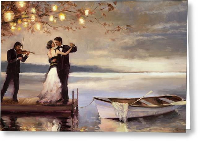 Twilight Romance Greeting Card by Steve Henderson