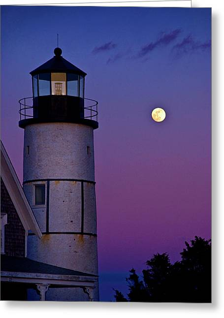 Twilight At Sandy Neck Lighthouse Greeting Card