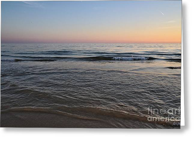 Twilight Sea Greeting Card by Angelo DeVal