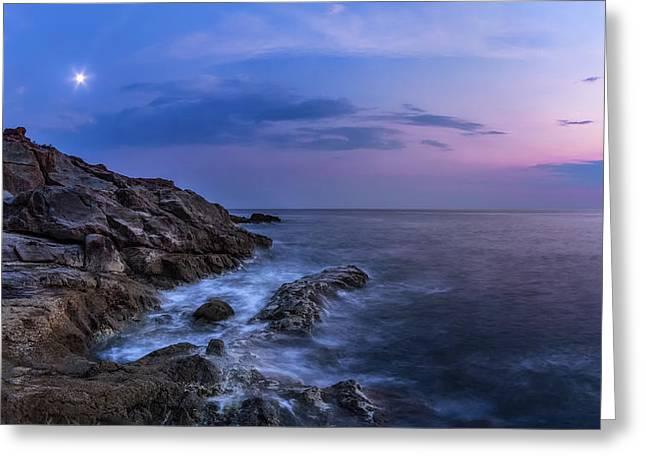 Twilight Sea Greeting Card