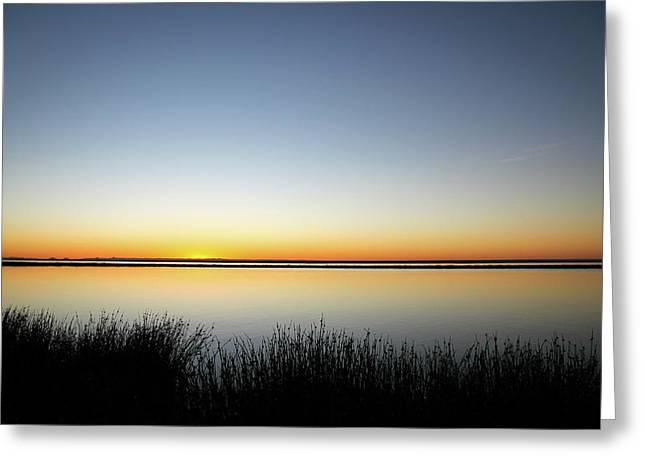 Twilight Stillness Down By The Beach Lagoon Greeting Card