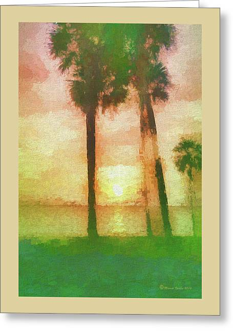 Twilight Sun Greeting Card by Marvin Spates