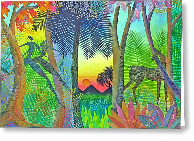 Twilight The Gate Between Worlds Greeting Card by Jennifer Baird