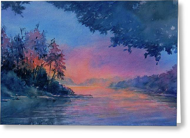 Twilight Time No 4 Eagle Lake Greeting Card