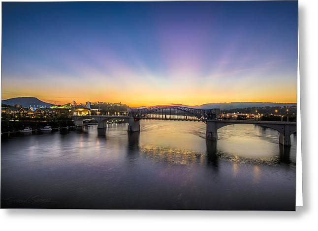 Twilight View, Chattanooga Greeting Card