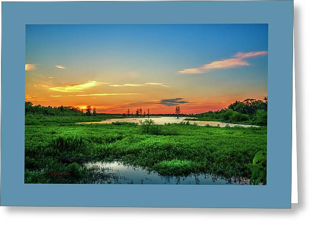 Twilights Arrival Greeting Card by Marvin Spates