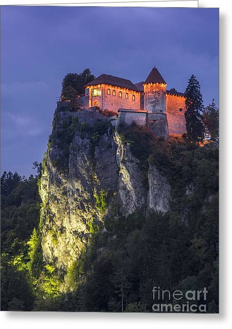 Bled Castle Greeting Card by Vyacheslav Isaev