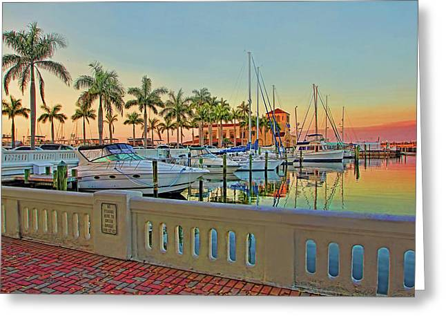 Twin Dolphin Marina Greeting Card