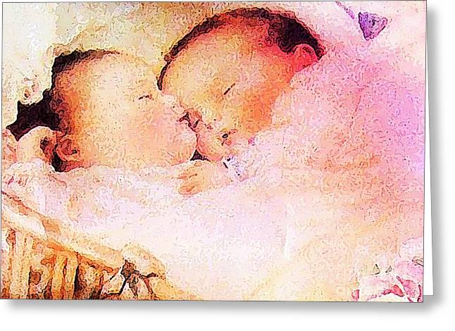 Twin Dreaming Greeting Card