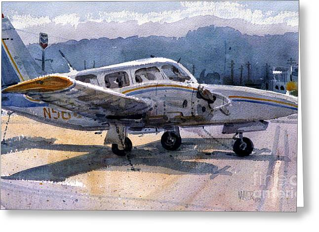 Twin Engine Greeting Card by Donald Maier