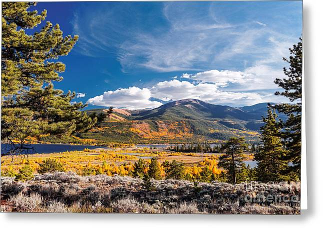 Twin Lakes And Quail Mountain - Independence Pass - In Late September - Rocky Mountains Colorado Greeting Card by Silvio Ligutti