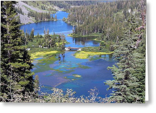Twin Lakes Eastern Sierra Photography Greeting Card