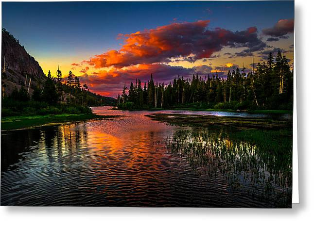 Twin Lakes Sunset Mammoth Lakes California Greeting Card