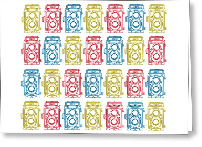 Twin Lens Camera Pattern Greeting Card