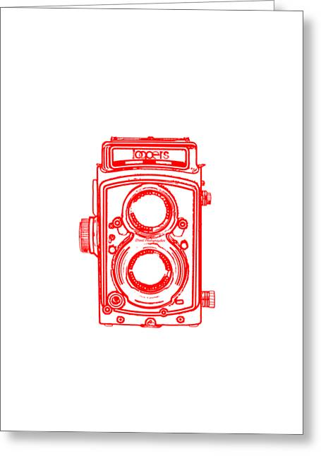 Twin Lens Camera Greeting Card by Setsiri Silapasuwanchai
