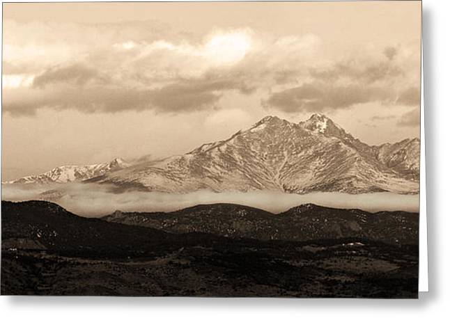 Twin Peaks Greeting Cards - Twin Peaks Sepia Panorama Greeting Card by James BO  Insogna