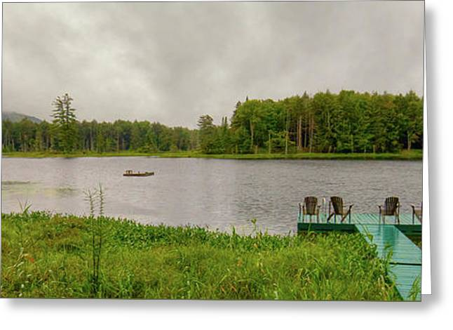 Greeting Card featuring the photograph Twin Ponds Landscape by David Patterson