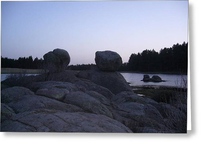 Twin Rocks Greeting Card
