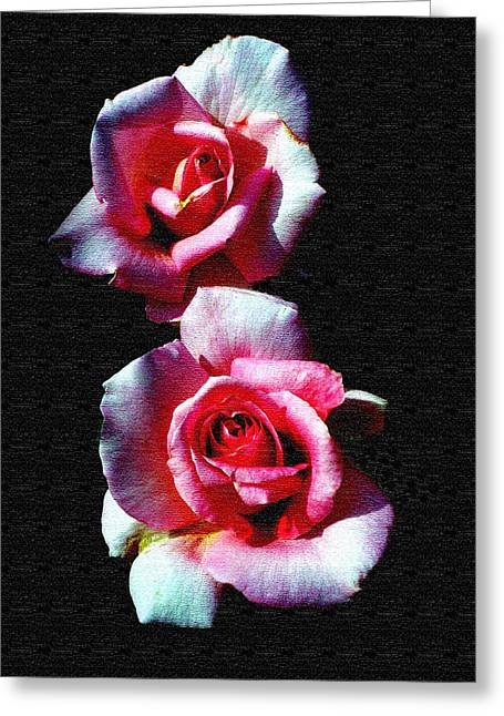 Twin Roses Greeting Card by Ralph  Perdomo