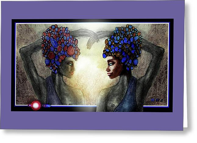 Twin Sisters Greeting Card by Hartmut Jager