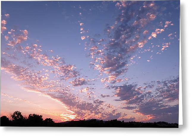 Twin Sisters Sunset Greeting Card