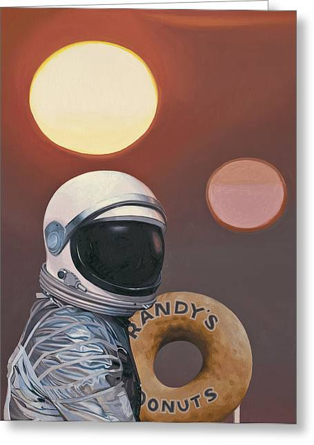 Twin Suns And Donuts Greeting Card by Scott Listfield