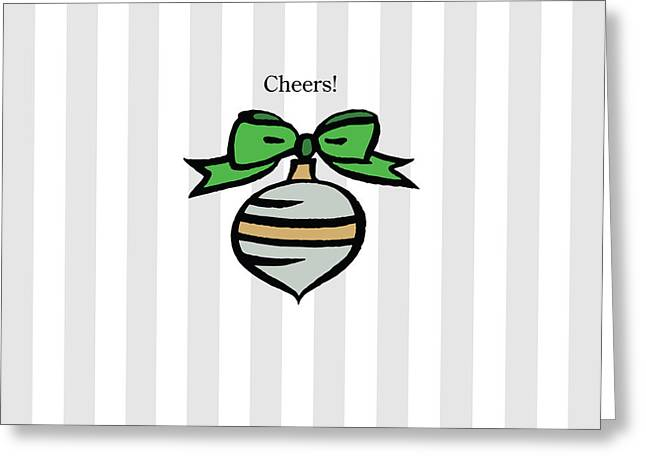 Twinkle In Gray Greeting Card by Patti Britton