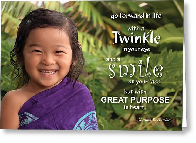 Twinkle Smile Greeting Card
