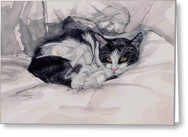 Twinkle The Cat Greeting Card by Chana Helen Rosenberg