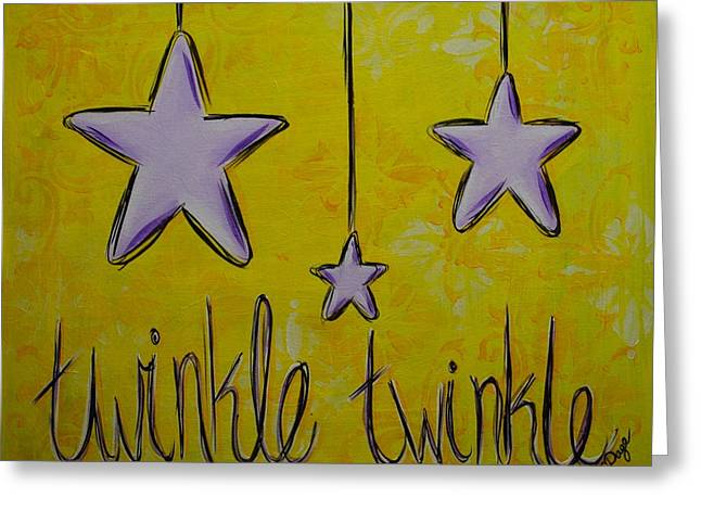 Twinkle Twinkle Greeting Card by Emily Page