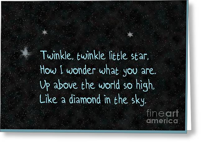 Twinkle Twinkle, Little Star Greeting Card by Humorous Quotes