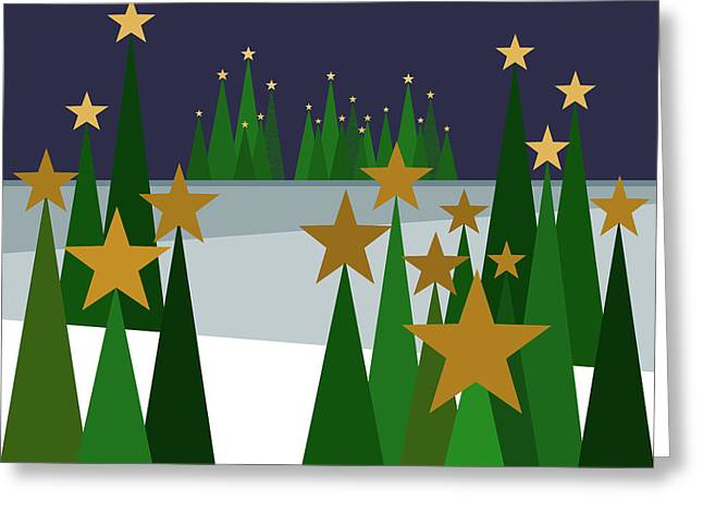 Twinkling Forest Greeting Card