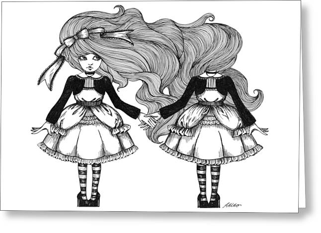 Twins Alice Greeting Card