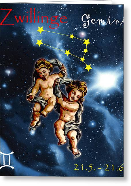 Twins Of Heaven Greeting Card