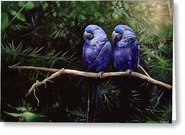 Twins Greeting Card by Steve Goad