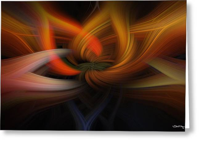 Twirl Abstract Greeting Card