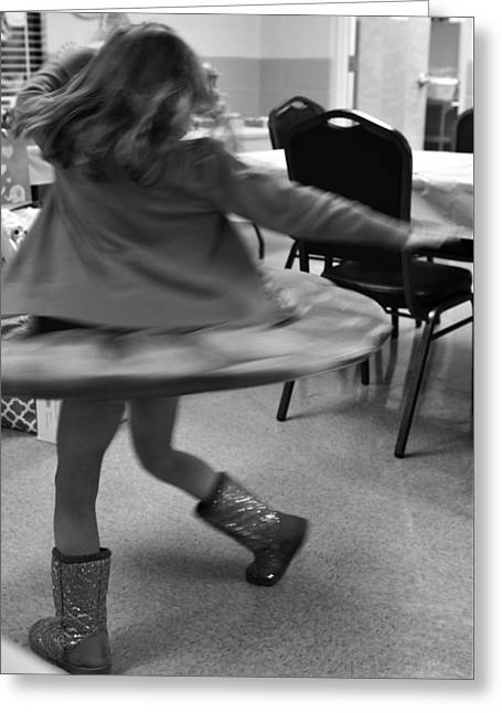 Twirling Girl  Greeting Card