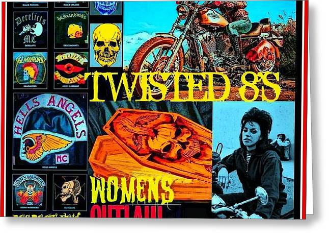 Twisted 8's Greeting Card by Tony Adamo