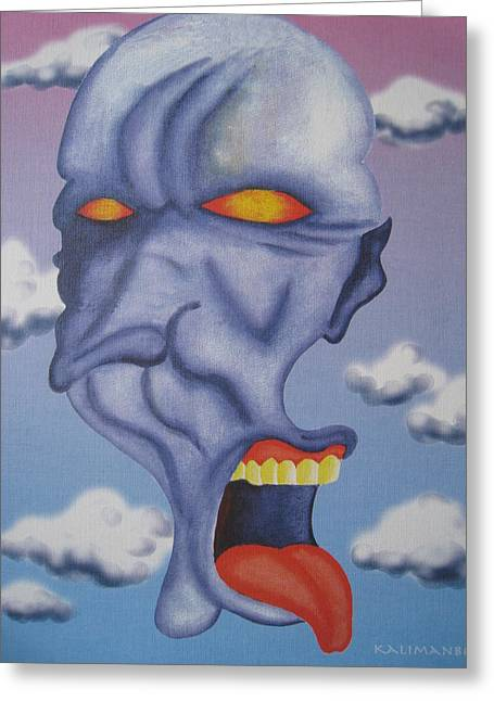 Twisted Face Greeting Card by Roger Golden