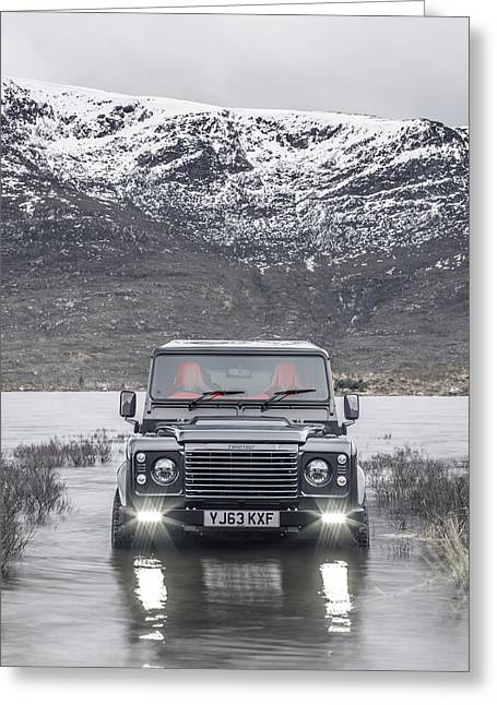 Twisted Land Rover Defender Greeting Card