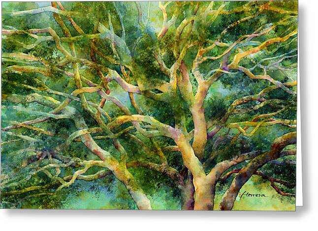 Twisted Oak Greeting Card by Hailey E Herrera