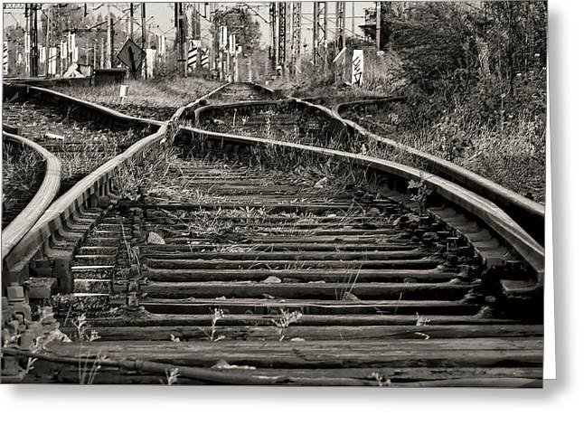 Twisted Railroad Tracks To Somewhere Greeting Card