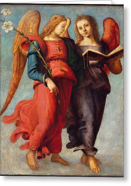 Two Angels Greeting Card