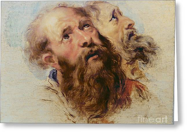 Peter Paul (1577-1640) Greeting Cards - Two Apostles Greeting Card by Rubens